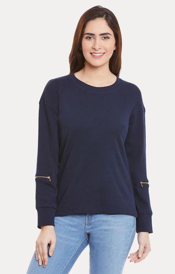 MISS CHASE   Navy Blue Sweatshirt