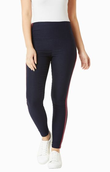 MISS CHASE | Navy Blue Jeggings