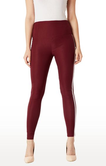 MISS CHASE | Maroon Jeggings