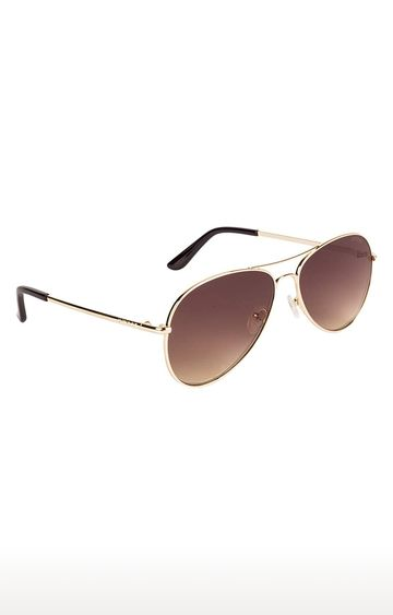 GUESS | Aviator Sunglass with Gold Lens