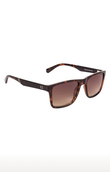 GUESS | Retro Square Sunglass with Brown Lens
