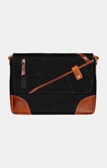 SCHARF | Black Messenger Bag