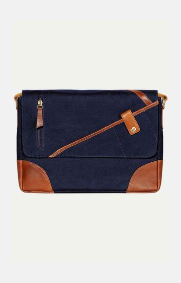 SCHARF | Navy Messenger Bag