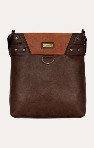 SCHARF   Brown Messenger Bag