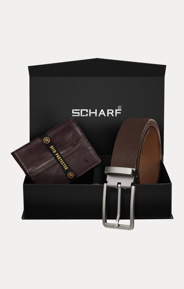 SCHARF | Brown Belt and Wallet Combo
