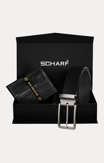 SCHARF | Black Belt and Wallet Combo