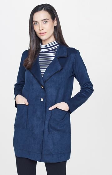 AND | Blue Solid Jacket