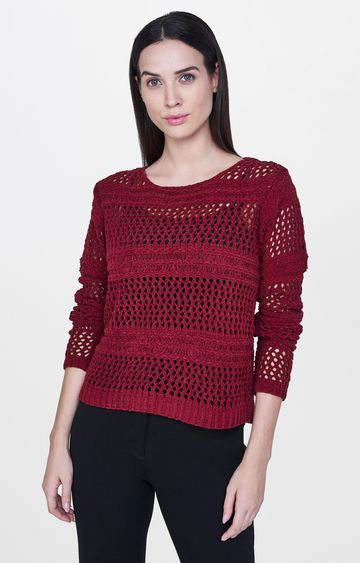 AND | Maroon Solid Top