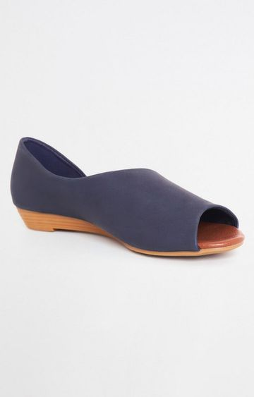 AND | Navy Blue D'orsay Shoes