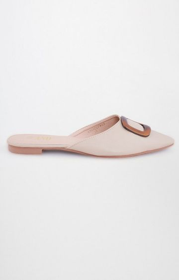 AND | Beige Pointed Toe Slip-ons