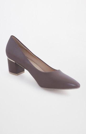 AND | Dark Brown Heels Pumps