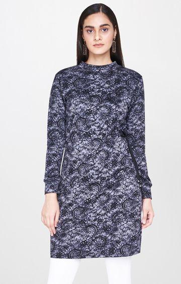AND | Dark Grey Printed Tunic