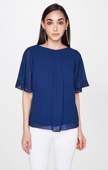 AND | Blue Solid Top