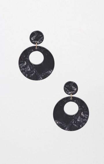 AND | Black Dangle and Drop Earrings