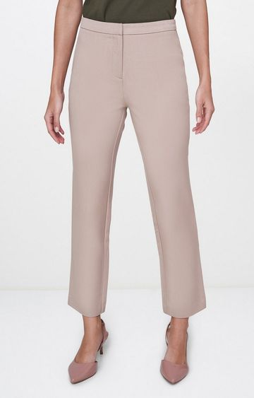 AND | Beige Cropped Chinos