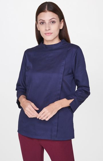 AND   Navy Solid Top