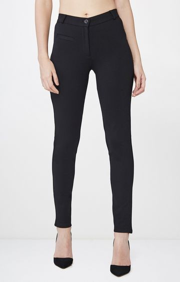 AND | Black Straight Trousers