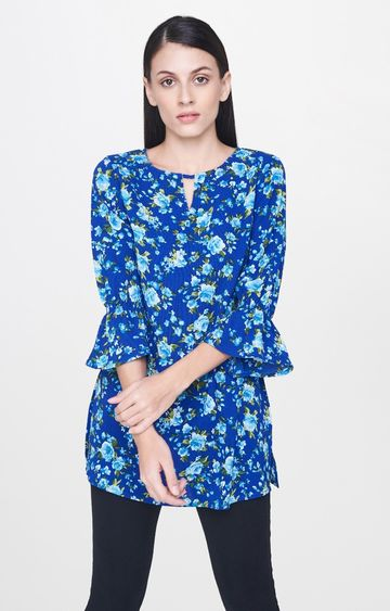AND | Blue Printed Tunic