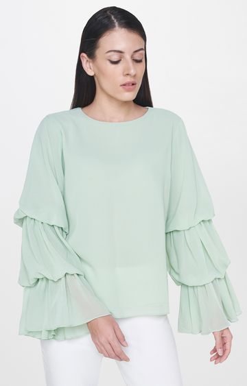 AND | Sage Green Solid Top