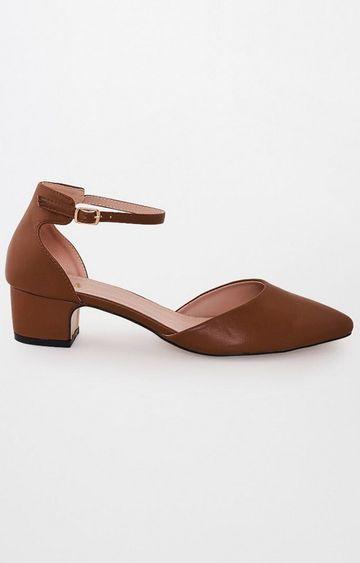 AND | Tan Block Heels