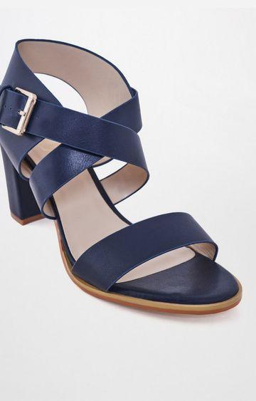 AND | Navy Block Heels