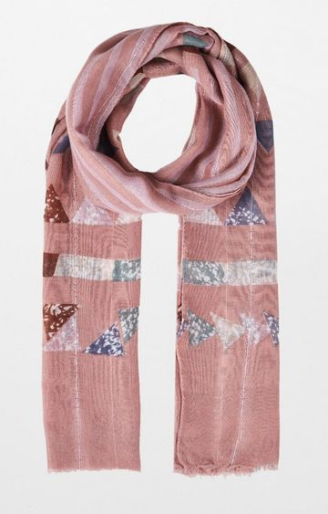 AND   Pink Printed Scarf