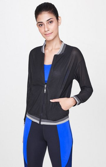 AND | Black Solid Activewear Jacket