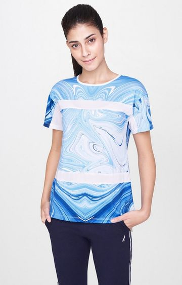 AND   Blue Printed T-Shirt