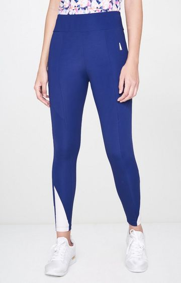 AND | Blue Solid Tights