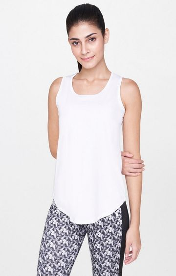 AND   White Solid T-Shirt