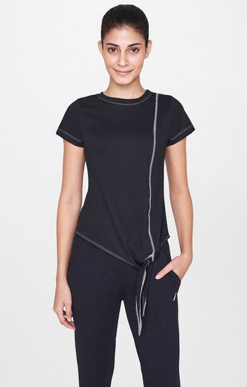 AND   Black Solid T-Shirt