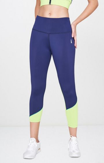 AND   Blue Solid Tights