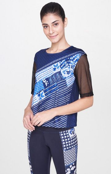 AND | Indigo Printed T-Shirt