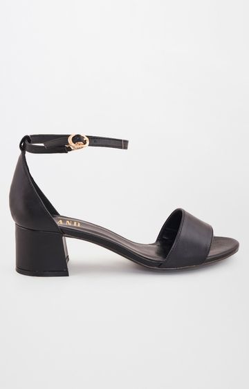 AND | Black Block Heels