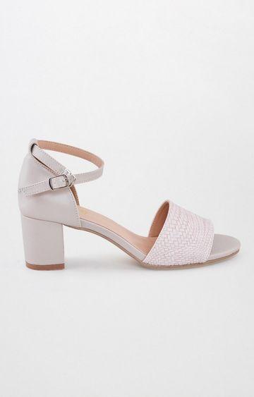 AND | Beige Block Heels