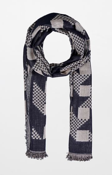 AND | Black Printed Scarf