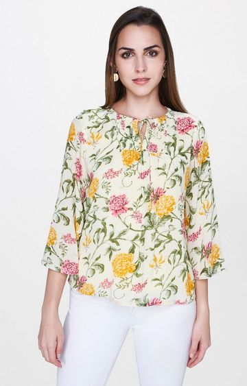 AND | Lime Floral Top