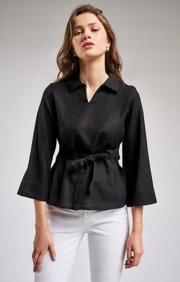 AND | Black Solid Top