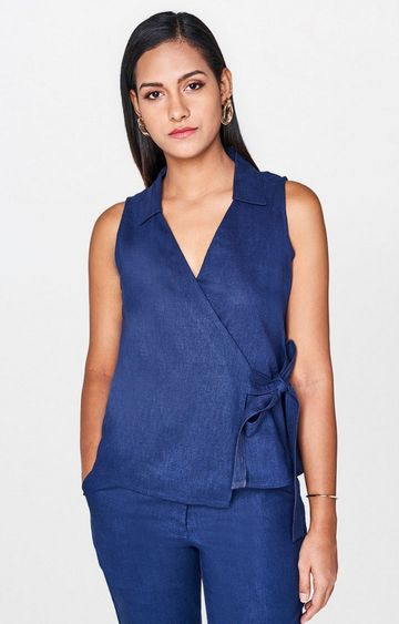 AND | Navy Solid Top