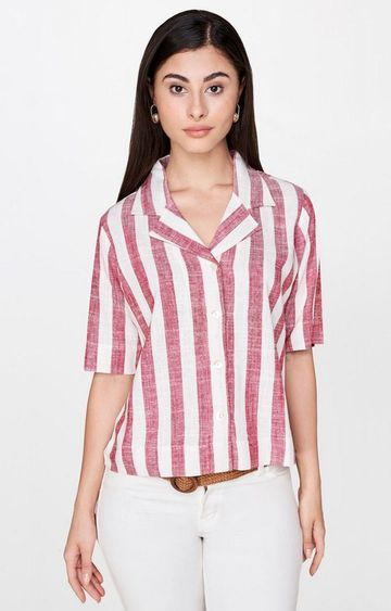AND | Red Striped Top