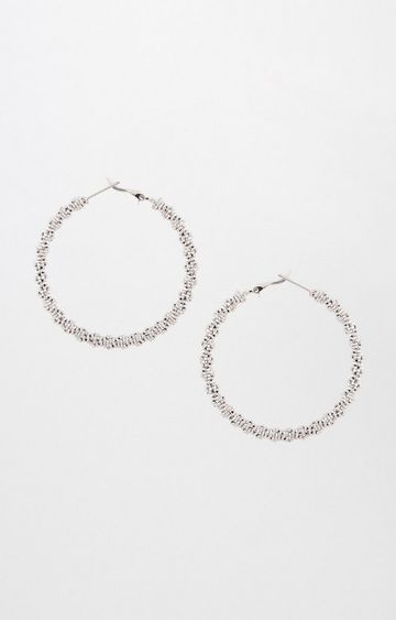 AND | Silver Hoops