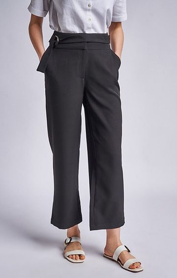 AND | Black Solid Pants