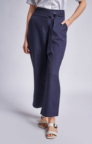 AND | Navy Solid Pants