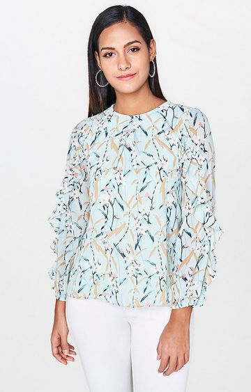 AND | Mint Floral Top