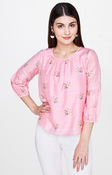 AND | Pink Floral Top