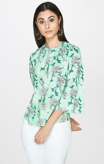 AND | Green Printed Top
