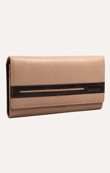 ABEEZA | Beige and Black Wallet