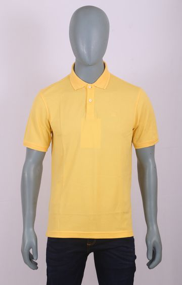 Raymond | Yellow Solid T-Shirt