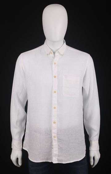 Raymond   Off White Solid Casual Shirt
