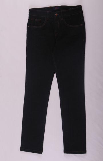 Raymond | Black Solid Straight Jeans
